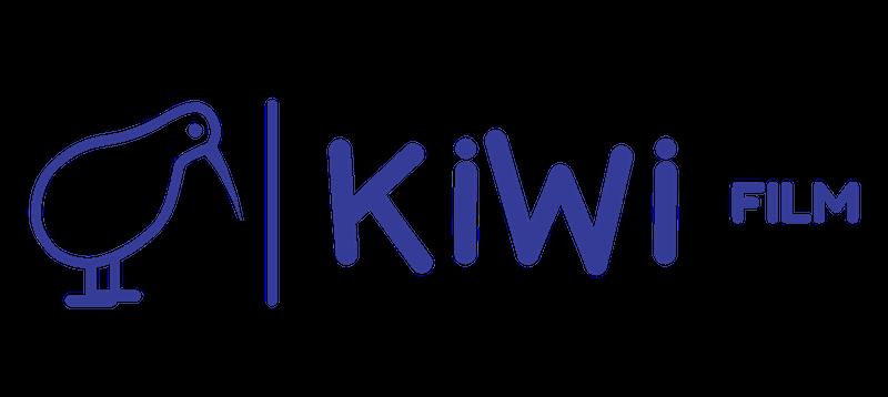 kiwifilm długie logo – przezroczyste niebieskie